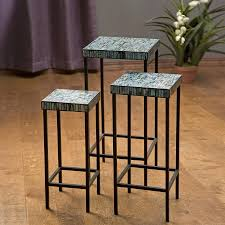 Mosaic Accent Table Shop Imax Worldwide Aramis 3 Blue Green Mosaic Accent Table