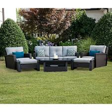 Members Mark Patio Grill Members Mark Brooklyn 6 Piece Deep Seating Set With Premium