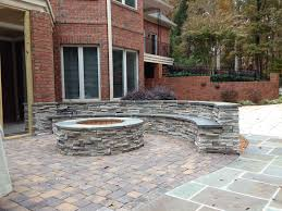 Average Cost Of Flagstone Patio by Cost Of Paver Patio With Fire Pit Home Outdoor Decoration