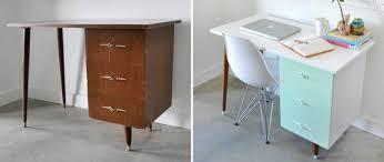 bureau repeint inspiration déco pour redonner vie à un vieux meuble