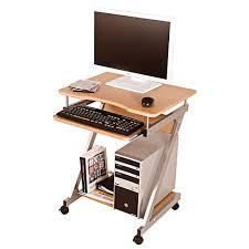 Schreibtisch In Buche Rollbarer Computertisch Flexo In Buche Dekor Pharao24 De