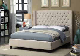 Meridian Bedroom Furniture by Ashton Bed Full Size Beige Buy Online At Best Price Sohomod