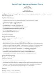 Sample Resume For Property Manager by Sample Protocol Specialist Resume Resame Pinterest