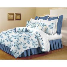 Blue And White Comforters Home Dynamix Classic Trends White Light Blue 5 Piece Full Queen