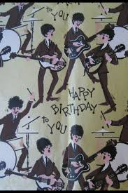 beatles wrapping paper beatles birthday wrapping paper original but not a licensed