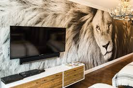 wall art decor for the home vue magazine this lion mural can create a leader quality in any home it works well in a teen s room office and library or entertainment room