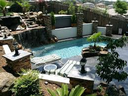 decoration in rectangular backyard landscaping ideas