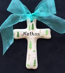 personalized ceramic cross baptism christening christmas
