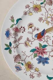 1800s vintage davenport china plate orient pattern india tree of