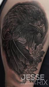 golden eagle by rix tattoos