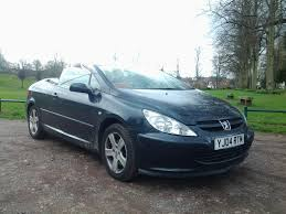 peugeot 307 cc allure convertible black with two tone black u0026 red