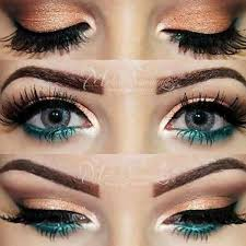 peach and teal eye makeup peach and teal eye makeup