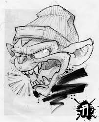 monkey tattoo sketch by arturnakolet on deviantart