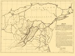 Map Of Southern Ohio by Old Railroad Map Baltimore And Ohio Railroad 1840