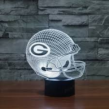 online get cheap green bay packers christmas aliexpress com 3d bulbing light led usb colorful night lamps green bay packers visual illusion lamp for kids toy christmas gifts night lighting