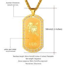 zodiac color 12 zodiac gold color necklace u2013 my soul u0026 spirit