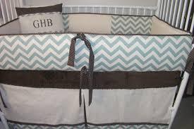 Mini Crib Bumper Pads by Chevron Baby Boy Bumper Pad Baby Crib Set