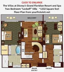 disney bay lake tower floor plan bedrooms bay lake tower 2 bedroom floor plan small home