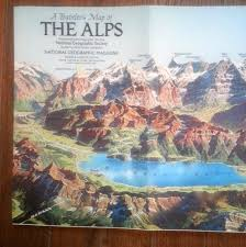 The Alps On World Map by National Geographic Map A Traveler U0027s Map Of The Alps National
