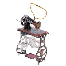 mini sewing machine model hanging tin collectables gift home