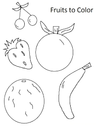fruits pages color coloring pages