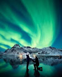 this marriage photo snapped the northern lights is