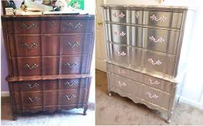 Silver Leaf Nightstand Aluminum Silver Leafed French Provincial Furniture Completed