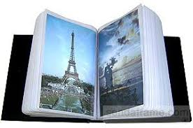 Leather Photo Albums 4x6 Black Faux Leather Album Holds 100 4x6 Photos Picture Frames