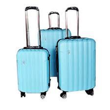 ultra light luggage sets todo ultra light luggage set 3pcs hard shell combination locks blue