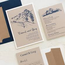 mountain wedding invitations rustic mountain customizable vintage wedding invitations beacon