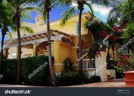 typical spanishmediterranean style house common all stock photo