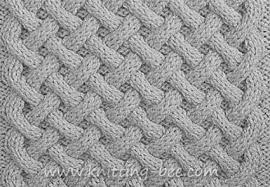 basket weave aran stitch knitting bee