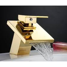 Gold Bathroom Faucet by 15 5cm Single Handle Waterfall Gold Bathroom Faucet