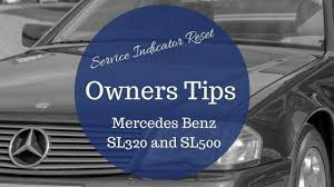 mercedes r129 sl320 service indicator reset youtube