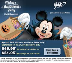 Aaa Discount For Mickey U0027s Not So Scary Halloween Party