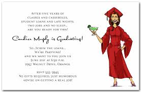 college invitations girl margarita graduation party invitations humorous college