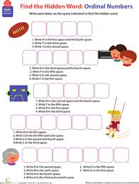 know all about numbers ordinal numbers worksheet education com