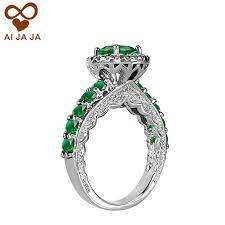 green wedding rings vintage emerald green wedding rings promise wedding