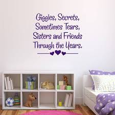 quote wall stickers sisters and friends quote wall sticker baby child sale