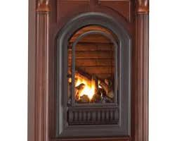Propane Fireplace Logs by Hearth Sense A Series Natural Gas Arched Vent Free Millivolt