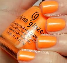 Shade Of Orange Names Let Them Have Polish China Glaze Summer Neons 2012 Swactches