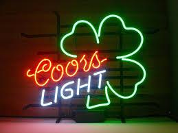 coors light bar sign 2018 new coors light shamrock light neon beer sign bar sign real