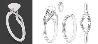 interlocking engagement ring wedding band engagement ring design robert kohr