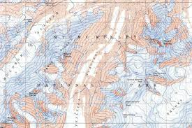 denali national park map denali national park 1954 usgs map