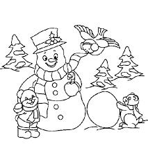 children u0027s favorite snowman coloring pages
