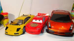 fast lamborghini remote car pixar cars fast talkin lightning mcqueen vs 2 remote