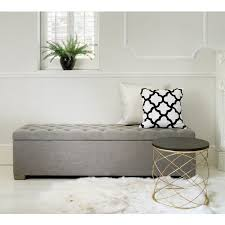 Ottoman Bedroom Bench Design Grey Bedroom Storage Bench Buttons Ottoman Gray