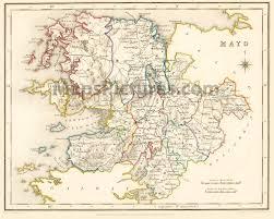 map of county county mayo ireland map 1837