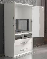 White Armoire 2 Door Armoire In Modern Style Carmen 33162ca