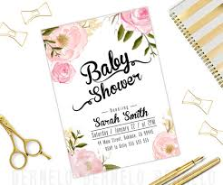 baby girl shower invitations floral baby girl shower invitations watercolor floral shower